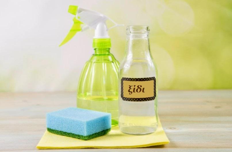συμβουλές καθαρισμού με ξίδι